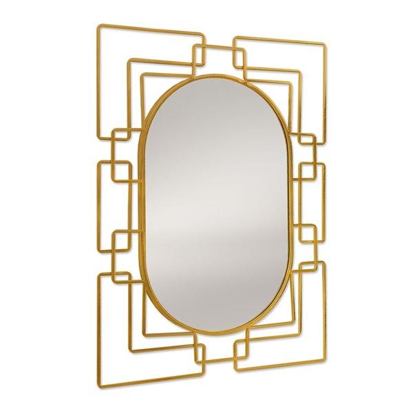 Miroir mural rectangulaire en métal doré par Gild Design House, 1 po L x 26 po l
