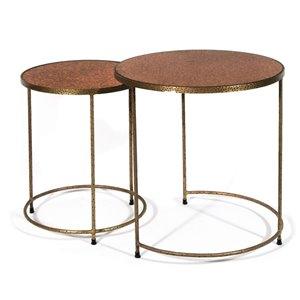 Ensemble de tables d'appoint gigognes ambré par Gild Design House