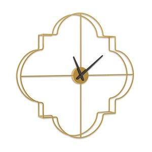 Horloge murale analogique en métal Morrissey par Gild Design House, or