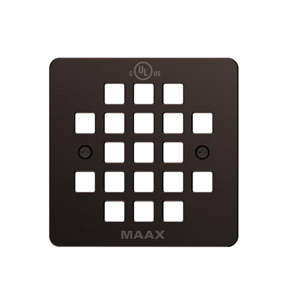 Maax Dark Bronze Metal Square Drain Grid Square Shower Drain Grid