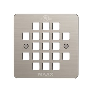 Maax Brushed Nickel Metal Square Shower Drain Grid