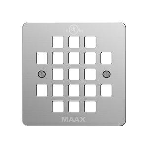 Grille de drain de douche carré en métal de Maax, chrome