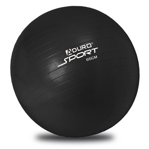 Aduro Sports Exercise Ball - Pump Included - Black