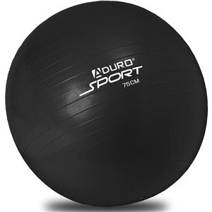 Aduro Sports Black Exercise Ball with Pump