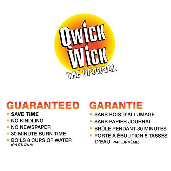 Allume-feu naturel par Qwick Wick, paquet de 12