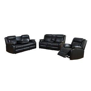 Mazin Industries Duncan Black Living Room Set