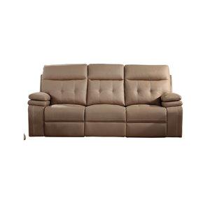 Canapé moderne inclinable Arrow faux cuir brun pâle de HomeTrend