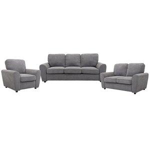 HomeTrend Bethany Living Room Set - Grey