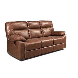 Canapé moderne inclinable Glover microfibre brun de HomeTrend