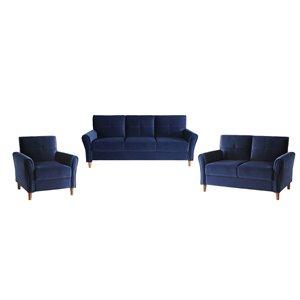 Ensemble de salon Dunleith par HomeTrend, bleu
