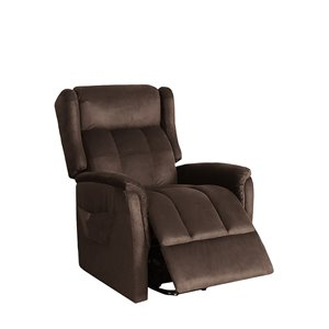 Chaise d'appoint polyester moderne brun Oscar de HomeTrend, ens. de 1
