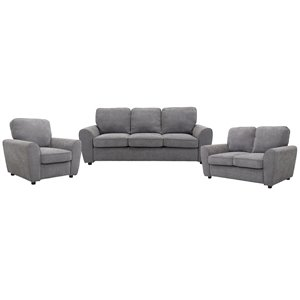 HomeTrend Bethany Grey Living Room Set