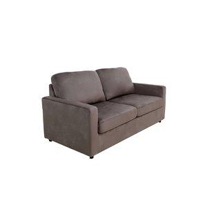 Canapé-lit Mathilda mélange de polyester brun de HomeTrend