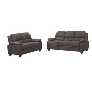 HomeTrend Miquel Living Room Set - Grey