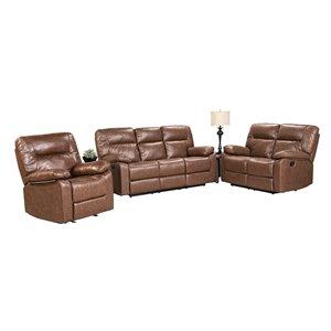 Mazin Industries Glover Brown Living Room Set