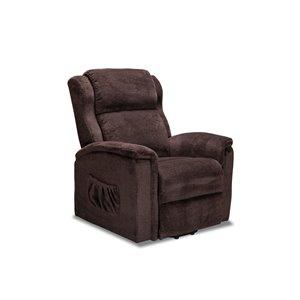 Chaise d'appoint chenille moderne brun Victoria de HomeTrend, ens. de 1