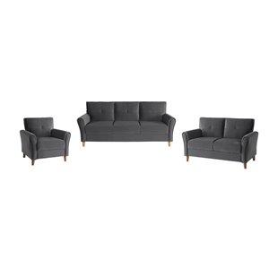HomeTrend Grey Dunleith Living Room Set