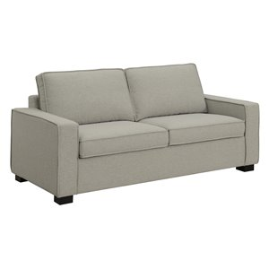 HomeTrend Jeffery Light Grey Polyblend Sofa Bed