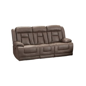 Canapé moderne inclinable Ace similicuir brun de HomeTrend