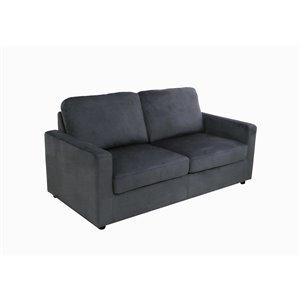 Canapé-lit Mathilda mélange de polyester gris de HomeTrend