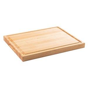 Planche à découper en bois avec poignées Chop Chop de Bois Mirabel, 19 po L x 15 po l, jaune