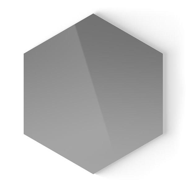 Tuile murale autoadhésive grise pâle ACP Speedtiles Géant, aluminium lustré, 9,4 po x 10,8 po x 0.2 po, hexagonale, paquet d