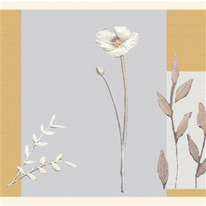 Dundee Deco 7-in Silver/Marigold/Beige Self-Adhesive Wallpaper Border