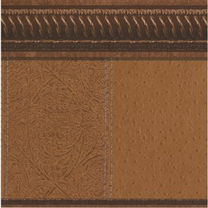 Dundee Deco 7-in Brown Self-Adhesive Wallpaper Border
