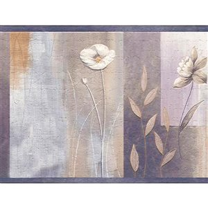Dundee Deco 7-in Silver/Purple/Violet Self-Adhesive Wallpaper Border