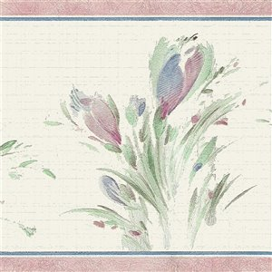 Dundee Deco 7-in Blue/Green/Sepia Self-Adhesive Wallpaper Border