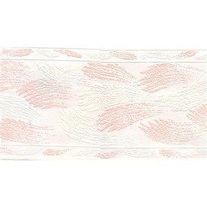 Bordure de papier peint de 5,25 po préencollée par Dundee Deco, rose et beige
