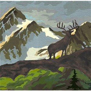 Bordure de papier peint de 7 po auto-adhésive par Dundee Deco, marron, vert, blanc