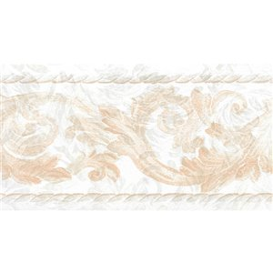 Dundee Deco 5.25-in Off-White/Beige/Light Brown Prepasted Wallpaper Border