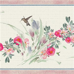 Dundee Deco 7-in Red/Pink/Green/Blue Self-Adhesive Wallpaper Border