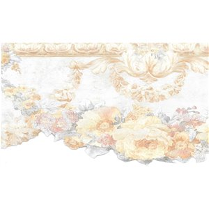 Dundee Deco 5.75-in Pearl/Beige/Pink/Green Prepasted Wallpaper Border