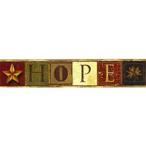 Bordure de papier peint de 4 po préencollée par Dundee Deco, marron, beige, bourgogne