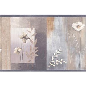 Dundee Deco 6-in Grey/White Prepasted Wallpaper Border