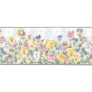 Dundee Deco 4.1-in Green/Yellow/Pink/Blue Prepasted Wallpaper Border