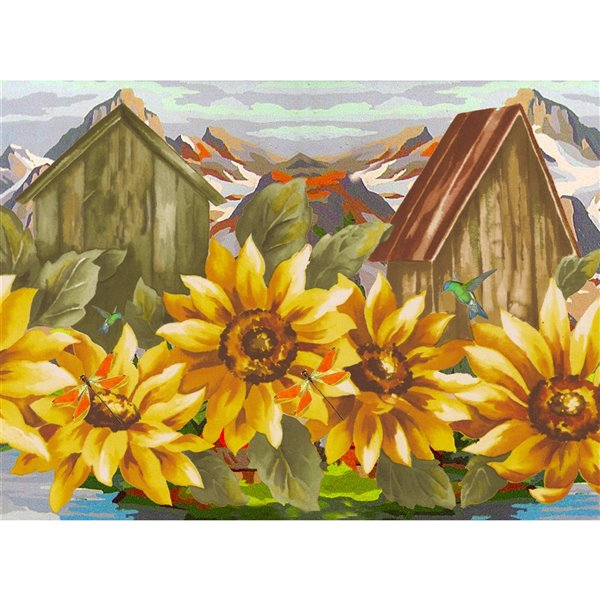 Bordure de papier peint de 7 po auto-adhésive par Dundee Deco, jaune, rouge