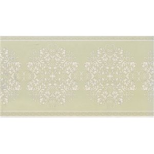 Dundee Deco 7-in Olive Green/Beige Prepasted Wallpaper Border