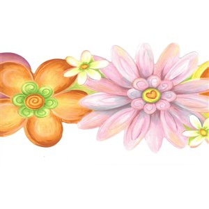 Dundee Deco 5.5-in Yellow/Pink/Purple/Green Prepasted Wallpaper Border