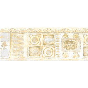 Dundee Deco 5.25-in Yellow/Green Prepasted Wallpaper Border