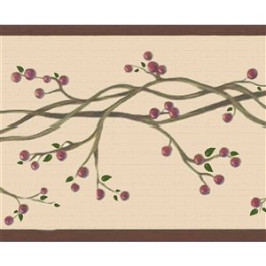 Dundee Deco 7-in Red/Sepia Self-Adhesive Wallpaper Border
