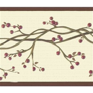 Dundee Deco 7-in Red/Beige Self-Adhesive Wallpaper Border