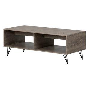 Table basse en composite Evane de South Shore Furniture, chêne chamois
