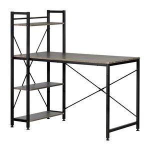 Table de poste de travail moderne/contemporain Evane de South Shore Furniture, 47,5 po, gris/argent