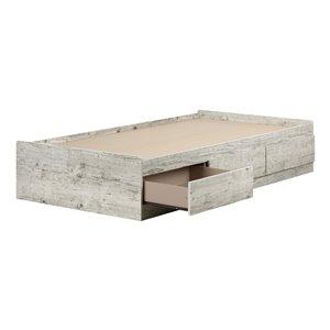 Lit une place à tiroirs Aviron de South Shore Furniture, pin bord de mer