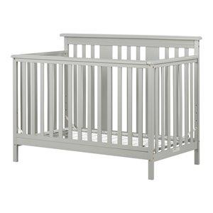 Lit de bébé 2 en 1 convertible Cotton Candy de South Shore Furniture, gris pâle