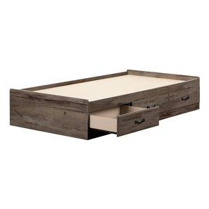 Lit une place à tiroirs Ulysses de South Shore Furniture, chêne automnal