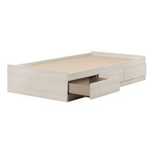 Lit une place à tiroirs Fynn de South Shore Furniture, chêne hivernal